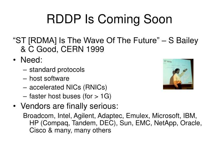 RDDP Is Coming Soon