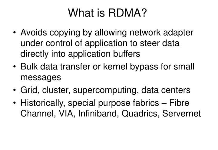 What is RDMA?