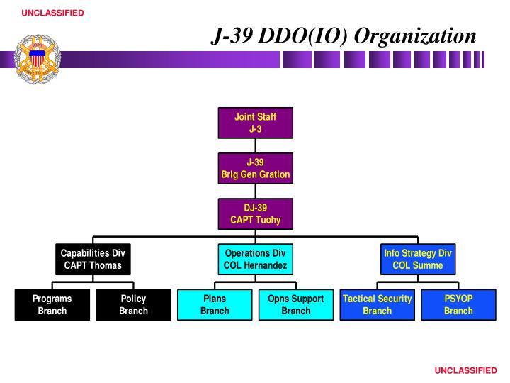 J-39 DDO(IO) Organization