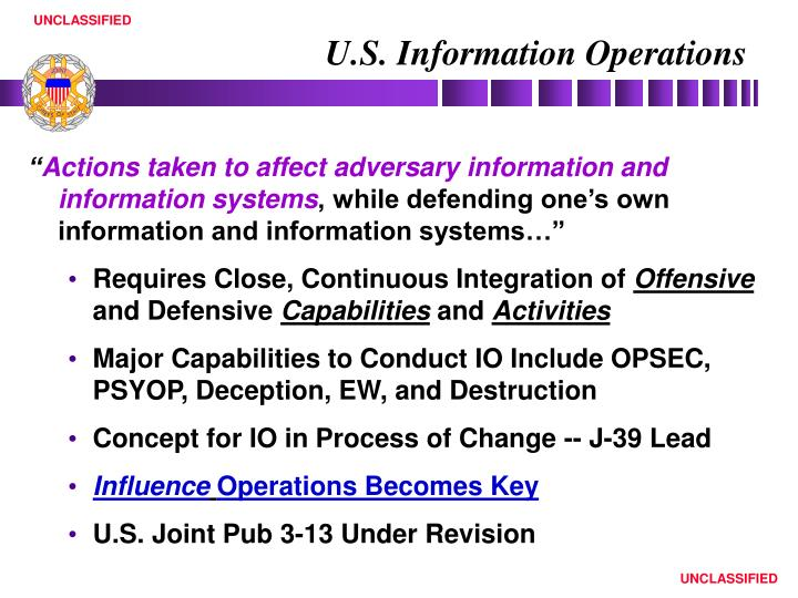 U s information operations
