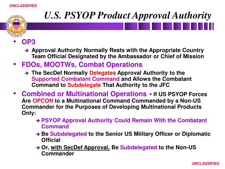 U.S. PSYOP Product