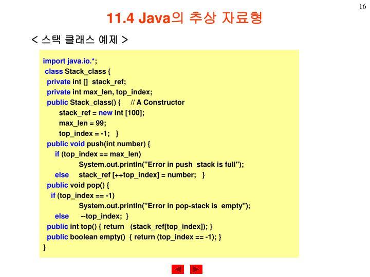 11.4 Java