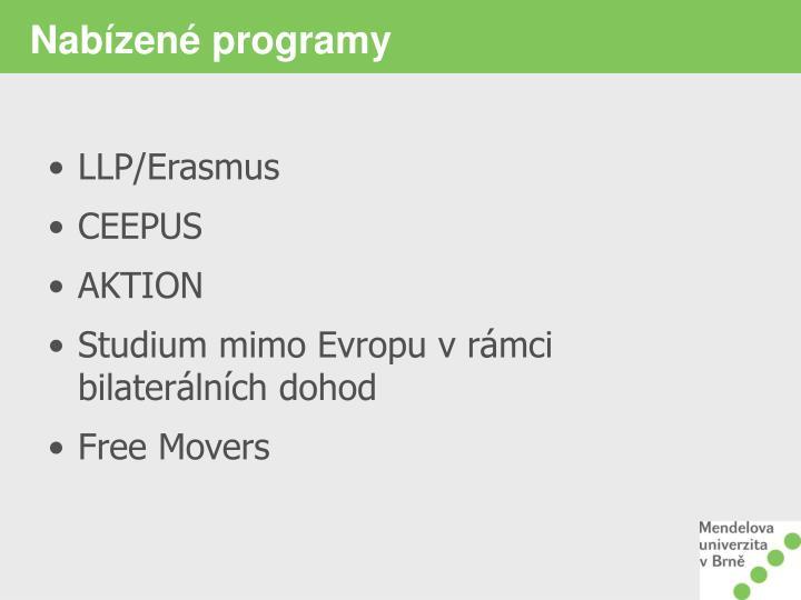 Nabízené programy