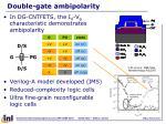 double gate ambipolarity