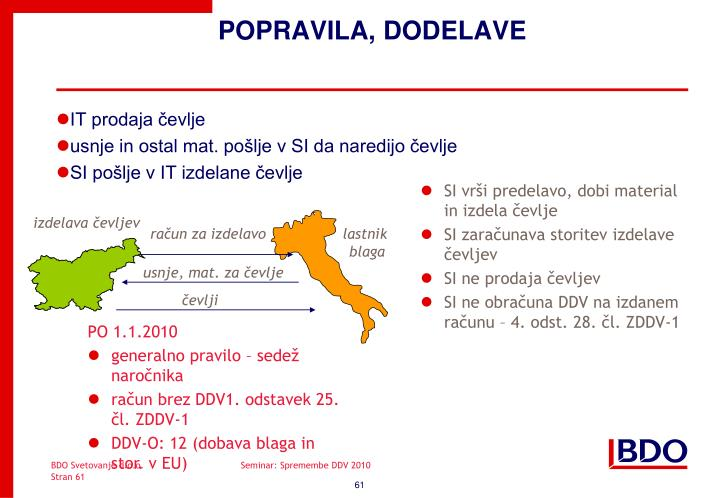 POPRAVILA, DODELAVE
