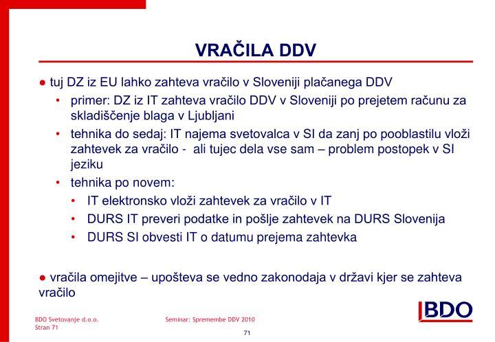 tuj DZ iz EU lahko zahteva vračilo v Sloveniji plačanega DDV