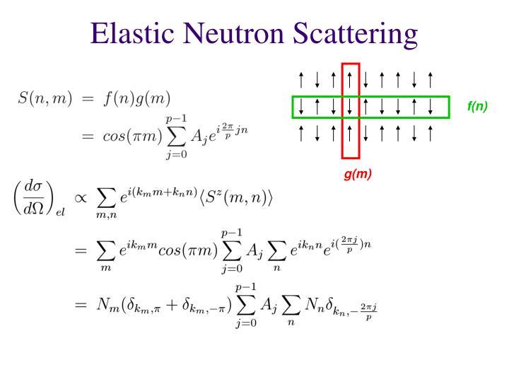 Elastic Neutron Scattering