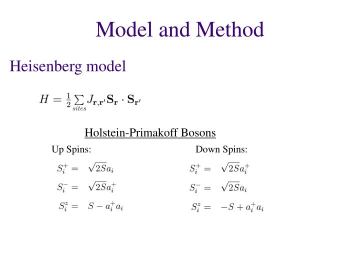 Model and Method