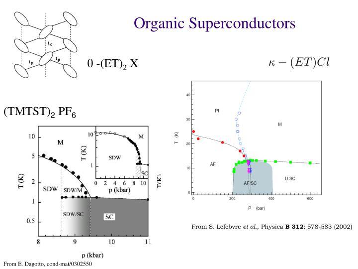 Organic Superconductors