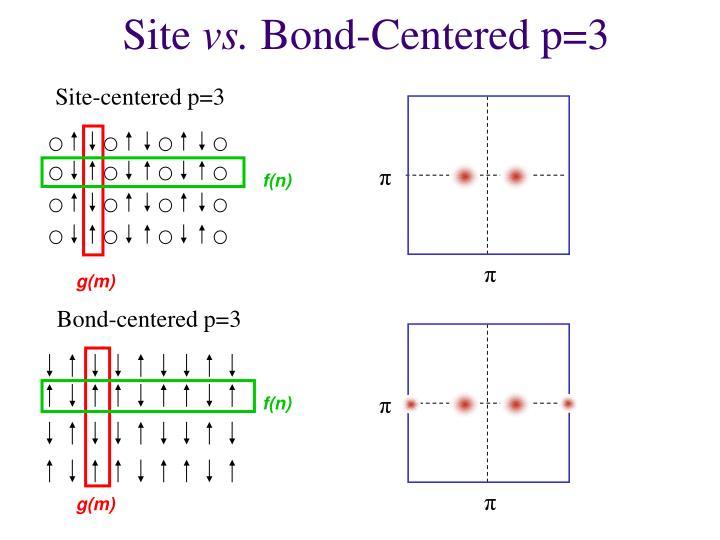 Bond-centered p=3