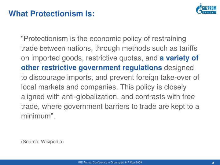 What protectionism is