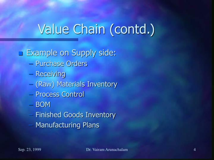 Value Chain (contd.)