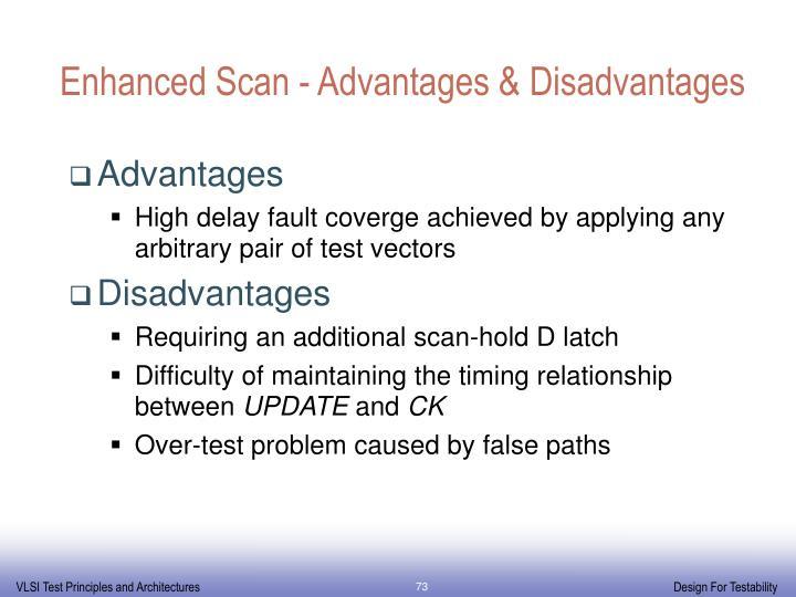 Enhanced Scan - Advantages & Disadvantages