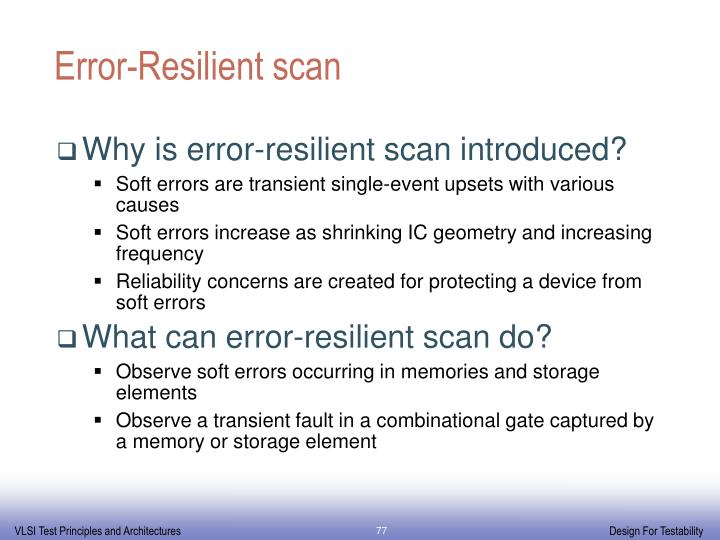 Error-Resilient scan