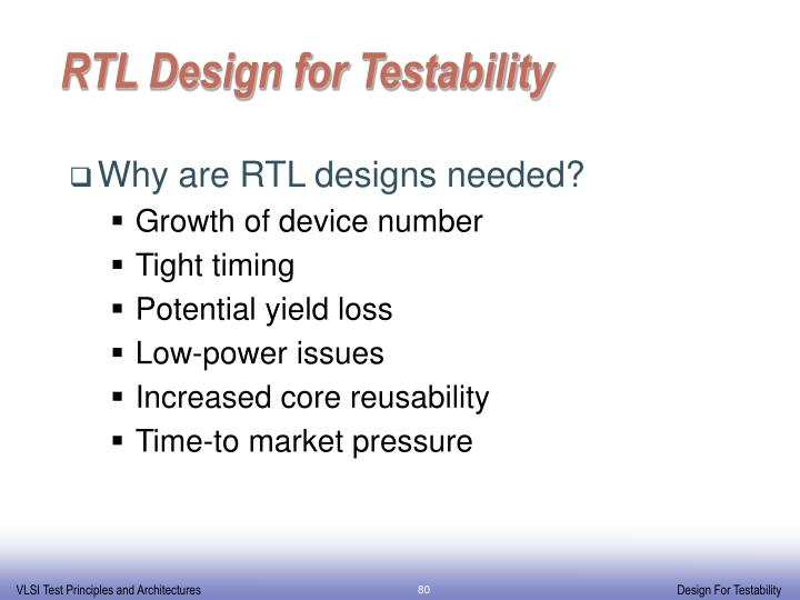RTL Design for Testability