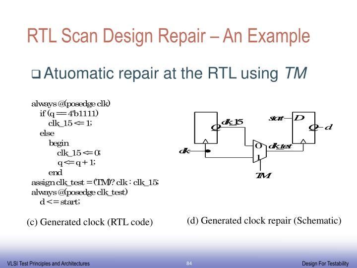 RTL Scan Design Repair – An Example