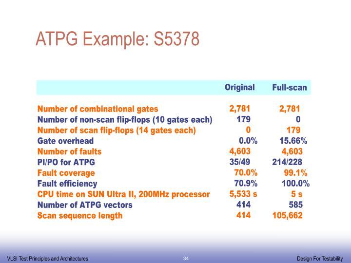 ATPG Example: S5378