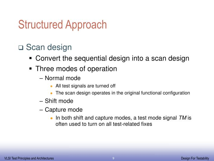 Structured Approach