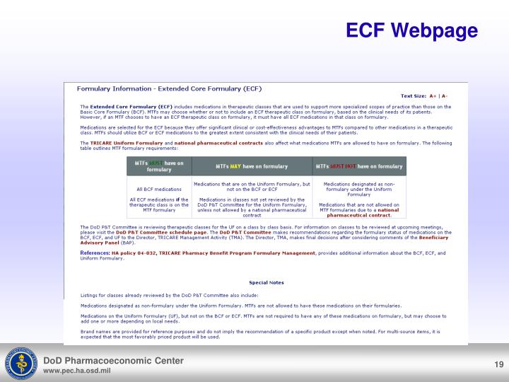 ECF Webpage