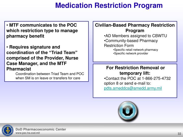 Medication Restriction Program