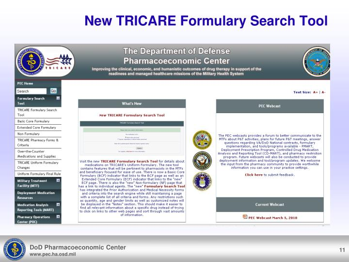 New TRICARE Formulary Search Tool