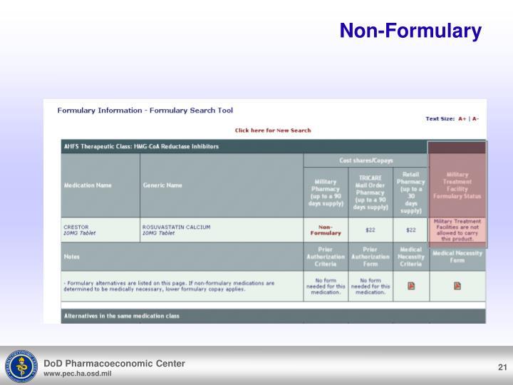 Non-Formulary