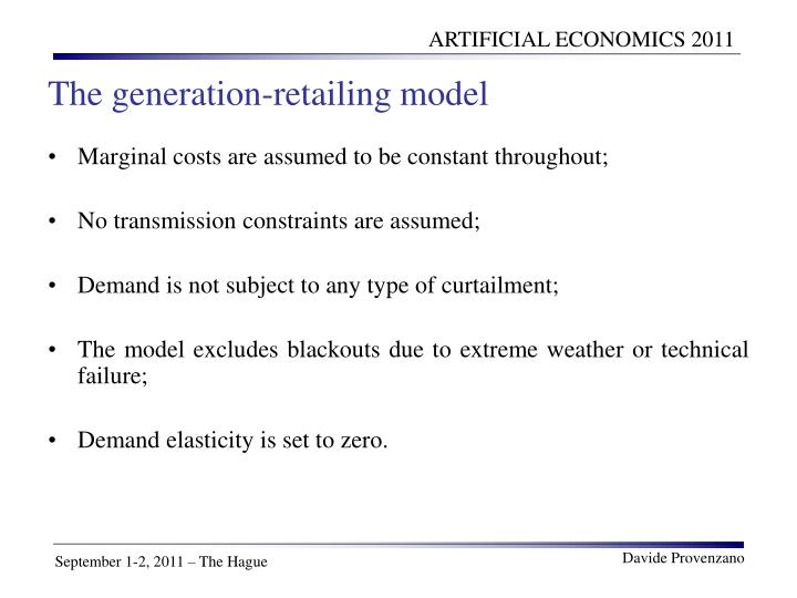 The generation-retailing model