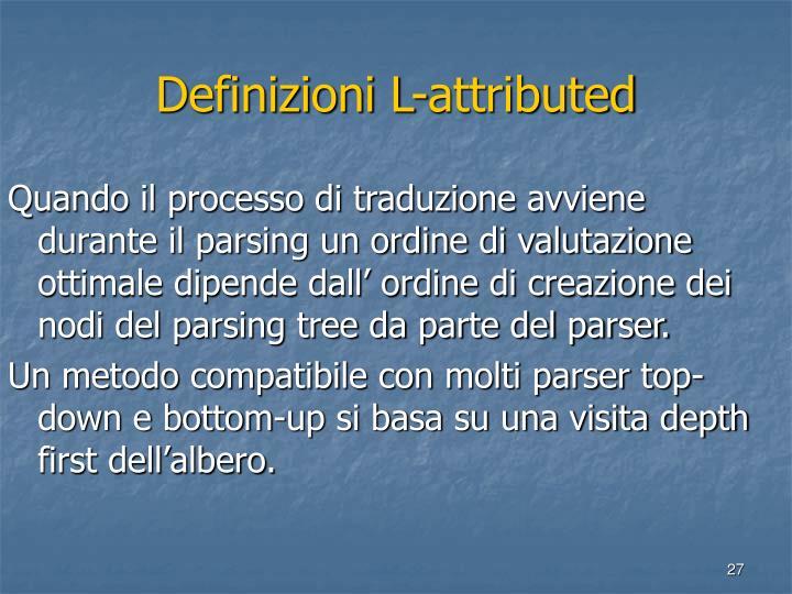 Definizioni L-attributed