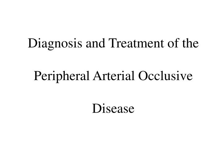 Diagnosis and Treatment of the