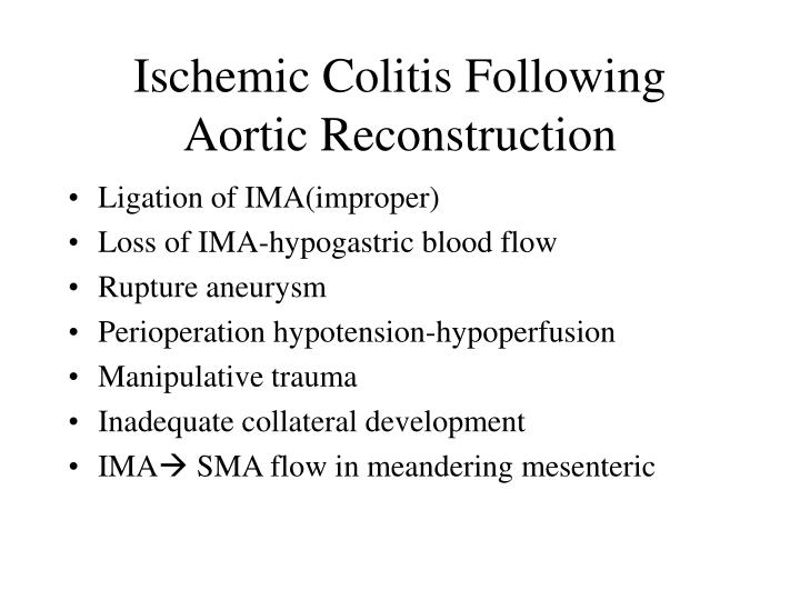 Ischemic Colitis Following Aortic Reconstruction