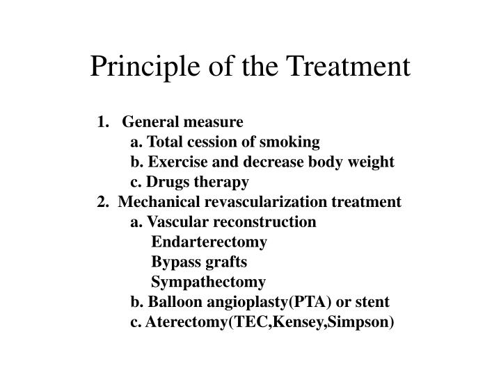 Principle of the Treatment