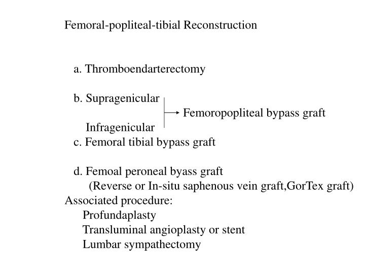 Femoral-popliteal-tibial Reconstruction