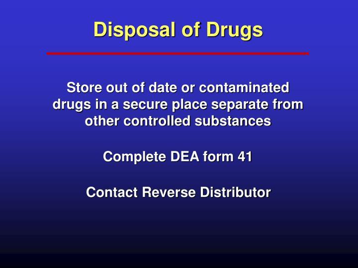 Disposal of Drugs