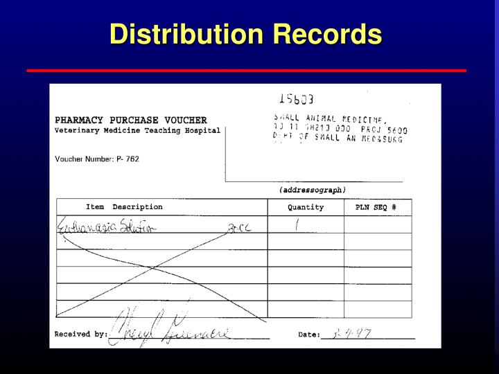 Distribution Records