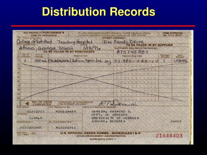 Distribution Records