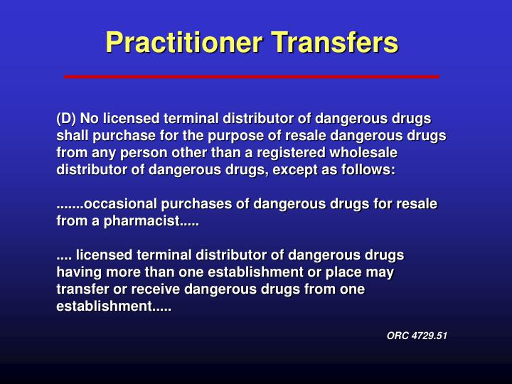 Practitioner Transfers