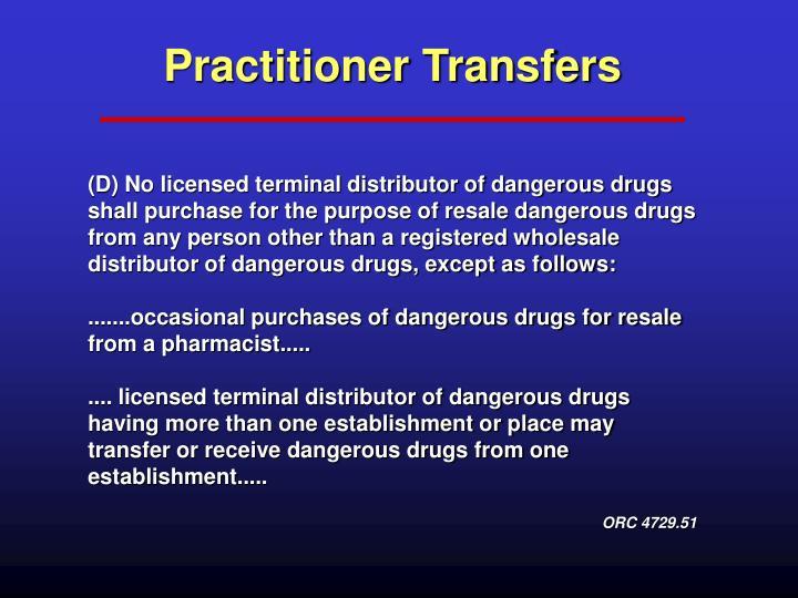 Practitioner Transfers
