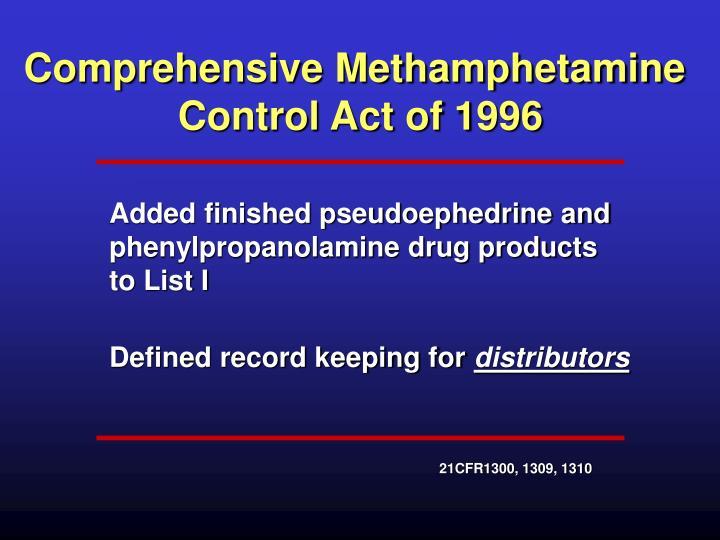 Comprehensive Methamphetamine
