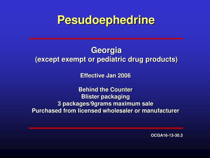 Pesudoephedrine