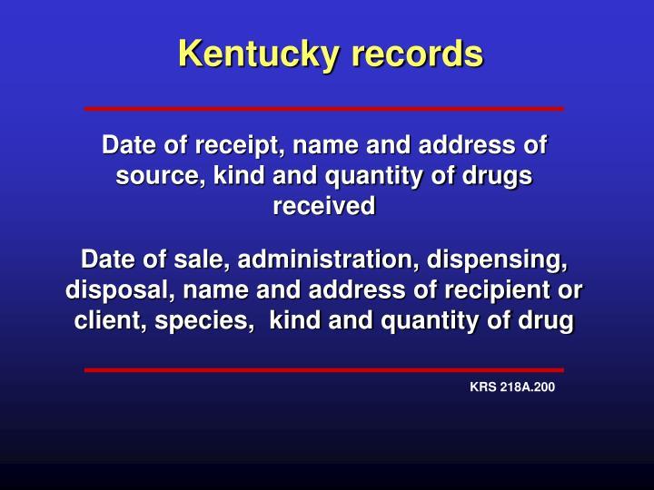 Kentucky records