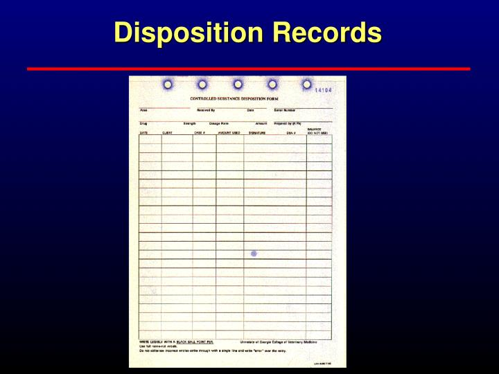Disposition Records