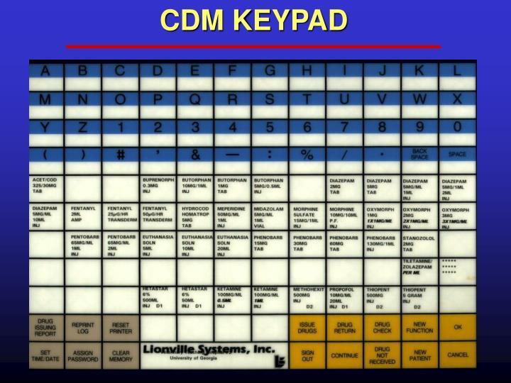 CDM KEYPAD