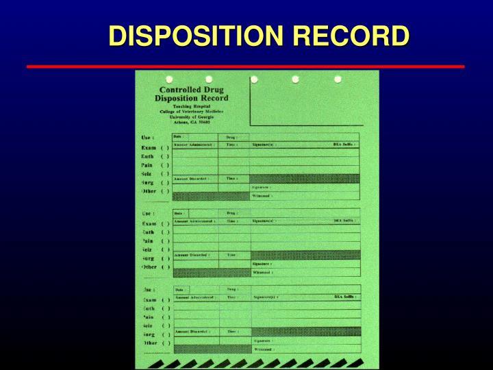 DISPOSITION RECORD