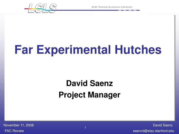 Far Experimental Hutches