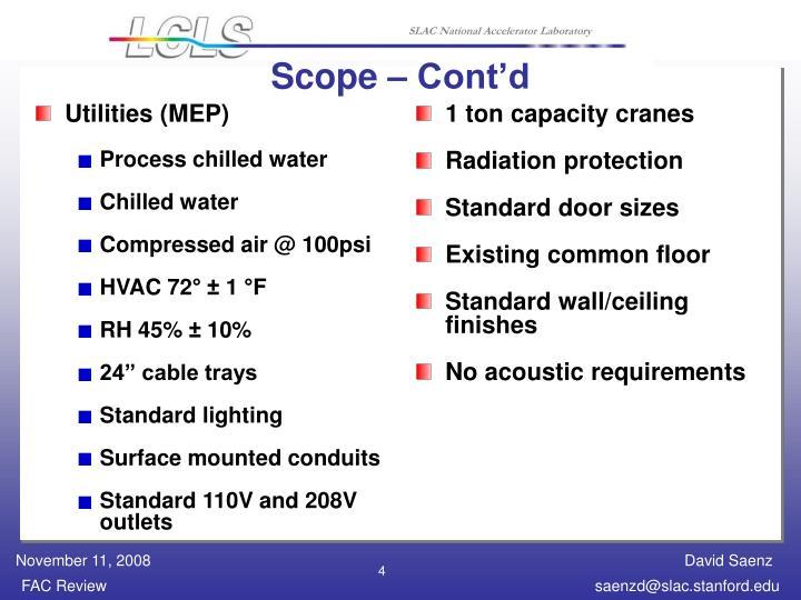 Scope – Cont'd