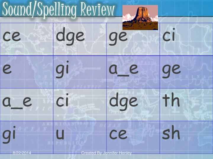 Sound/Spelling Review