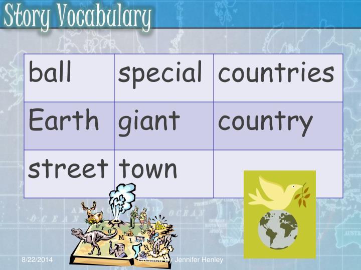 Story Vocabulary