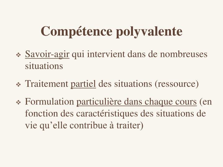Compétence polyvalente