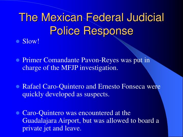 the enrique camarena case The enrique camarena case also in this issue: operational streamlining the  computer criminal operation freezer burn traffic stops  (.