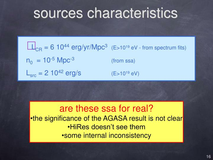 sources characteristics